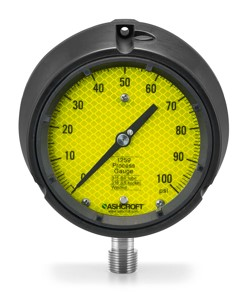 Ashcroft Duravis retroreflective gauge dial